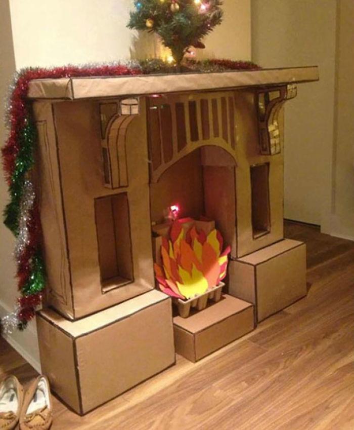 Mi novia quería un lugar donde colgar los calcetines en Navidad, así que le hice esto