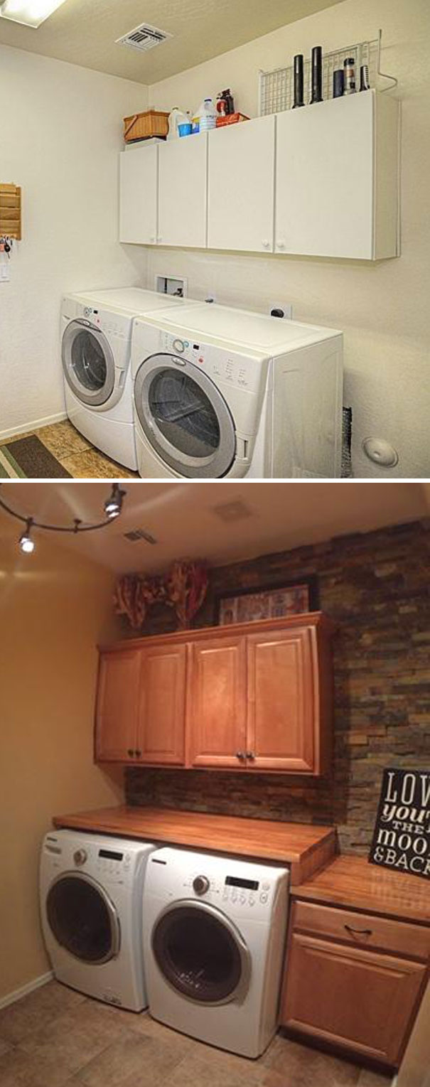 While My Wife Was Out Of Town For A Week, I Remodeled Our Laundry Room