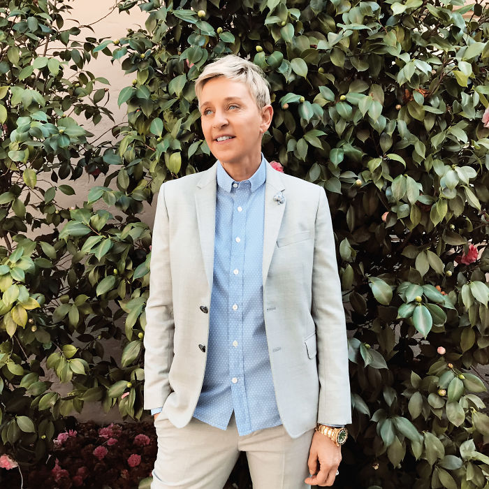 Ellen Degeneres - First Person To Star As An Openly Gay Character On Prime-Time Tv