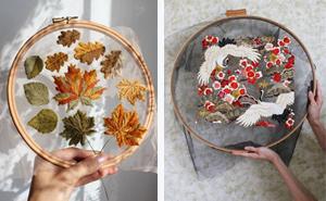 """Esta artística bordadora hace que sus diseños """"floten"""" usando tul"""