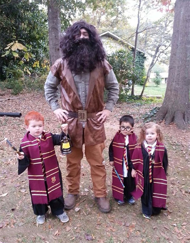 ron weasley hagrid harry potter and hermione
