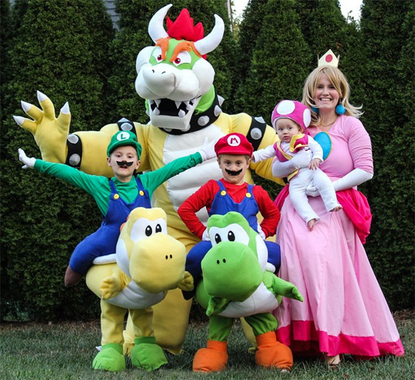 34 super mario family costumes