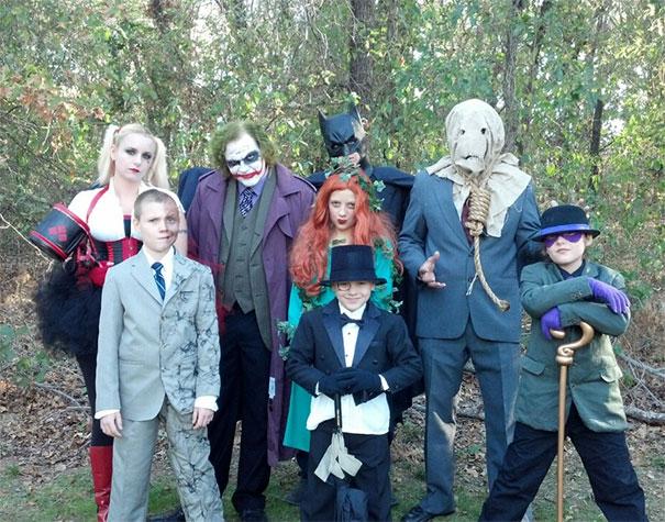 My Family's Batman Themed Halloween Costumes