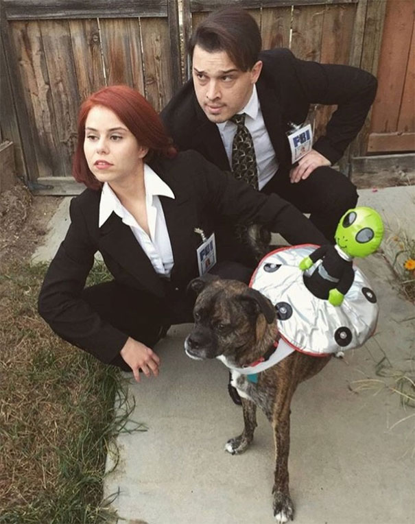55 couple years back my fianc and i went as scully and mulder from x files