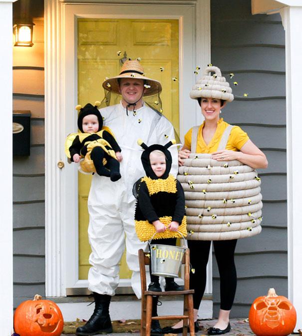 Honeybees With Their Beehive And Beekeeper
