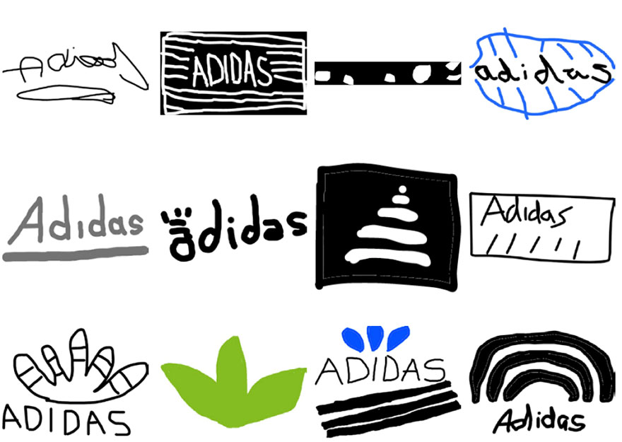 over 150 people tried to draw 10 famous logos from memory and the