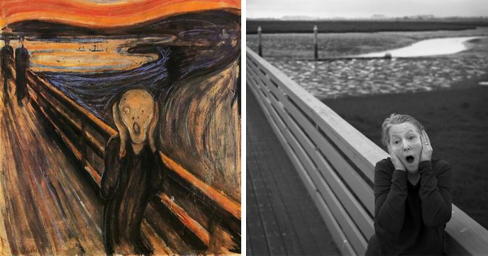 66 Year Old Woman Recreates Famous Paintings In Self Portraits