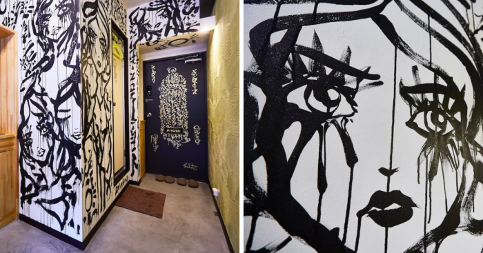 I Painted A Mural On The Walls Of An Airbnb I Was Staying At And The Host Refunded My Stay