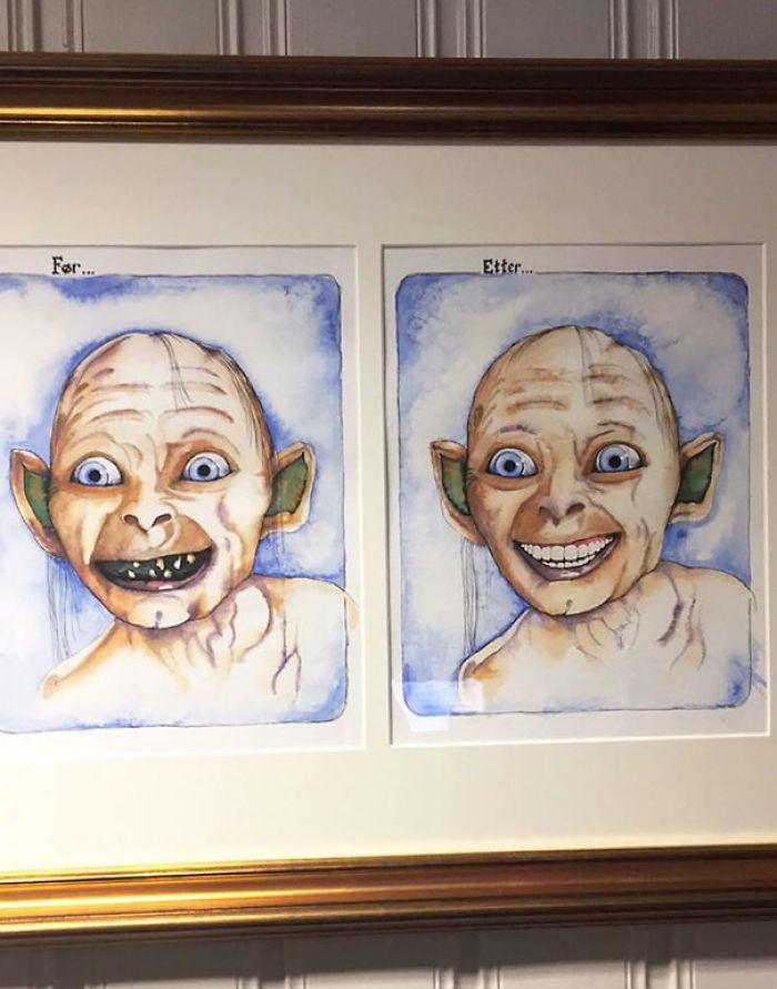 En la sala de espera del dentista