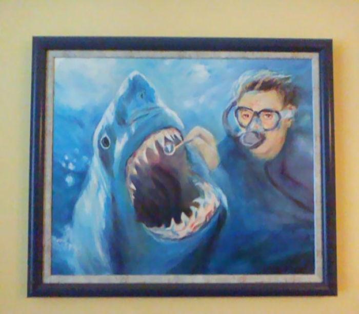 Cuadro en la sala de espera del dentista