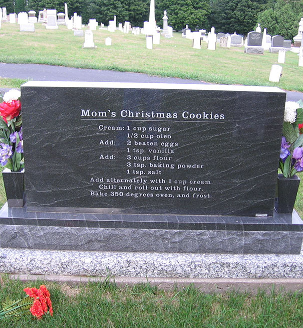 On The Backside Of Mom's Headstone