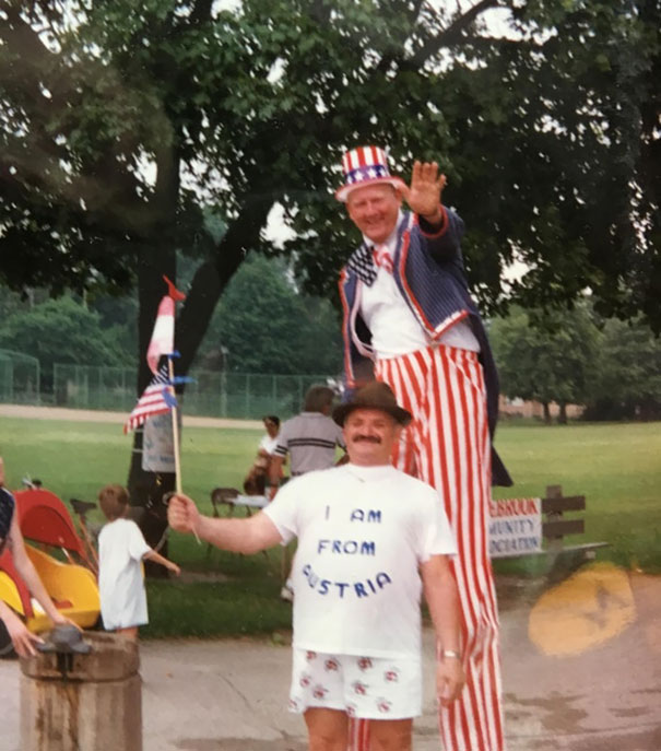 My Uncle Came To America Only Once In His Life. Here He Is In Chicago On The 4th Of July