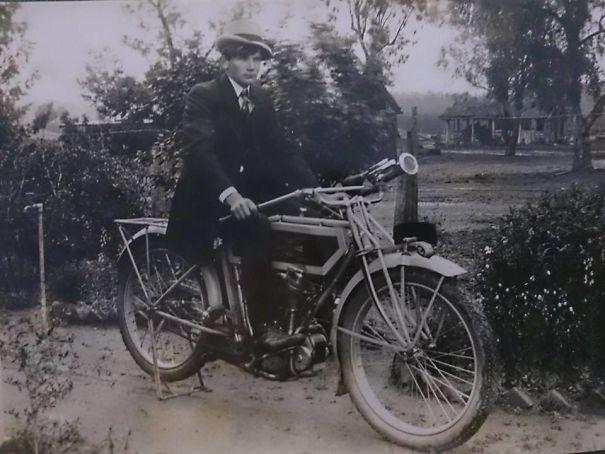 Grandpa Rocking It On His Bike - 1930's