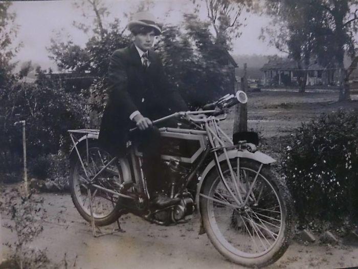 Grandpa Rocking It On His Bike – 1930's