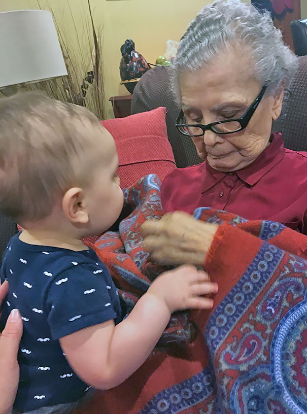 My 97-Year-Old Grandmother Crying After Meeting Her Great-Grandson