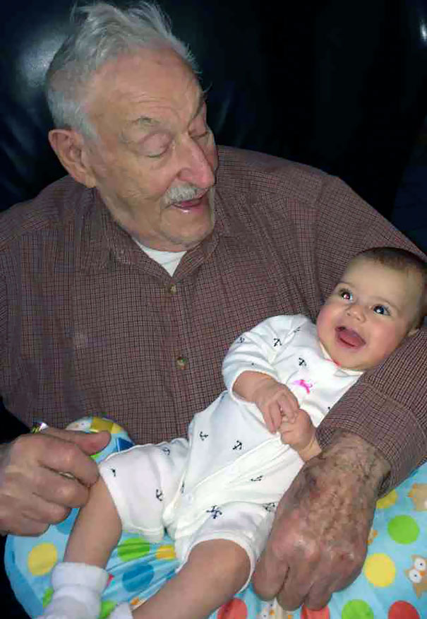91-Year-Old Grandfather Meets 91-Day Granddaughter