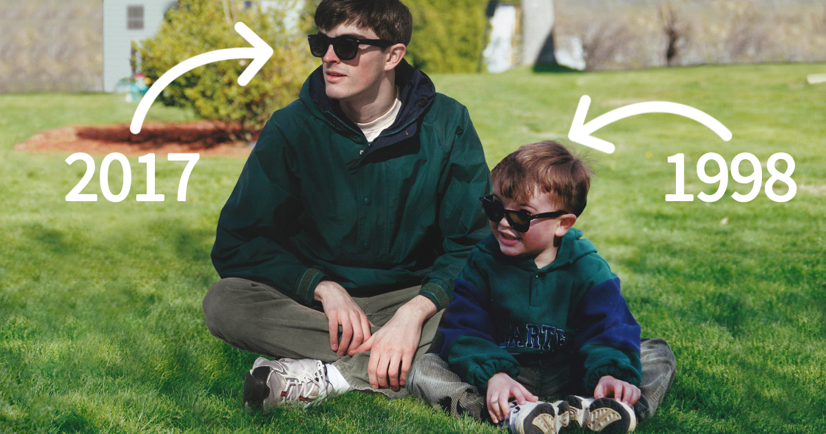 Guy Photoshops Himself Into Childhood Pics To Hang Out With His Childhood Self, And The Result Is Just Too Realistic