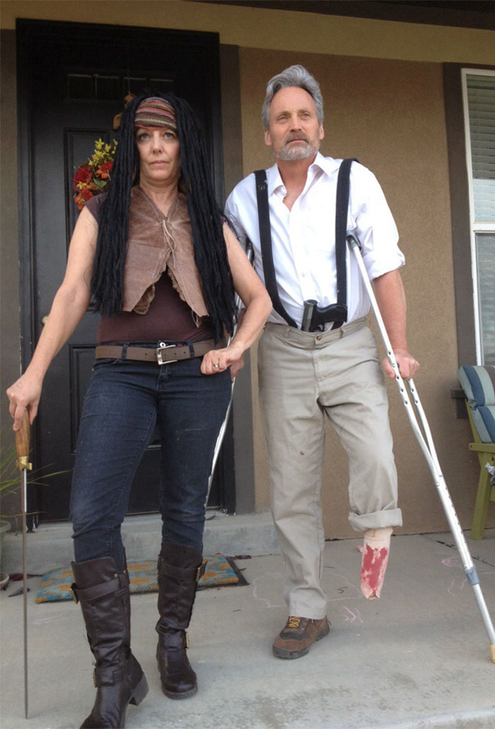 Hershel And Michone From Walking Dead