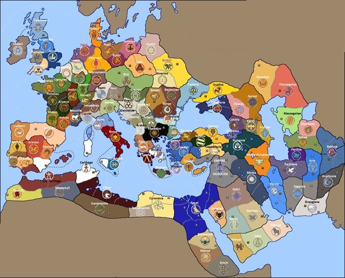 The Ancient World Map