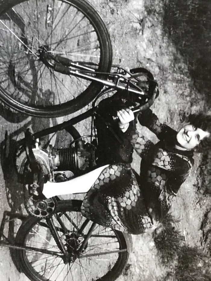 My Grandmother On Her Harley In 1926