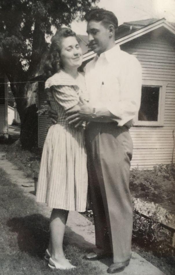 That Look! My Grandparents In Love. Somewhere Around 1945.