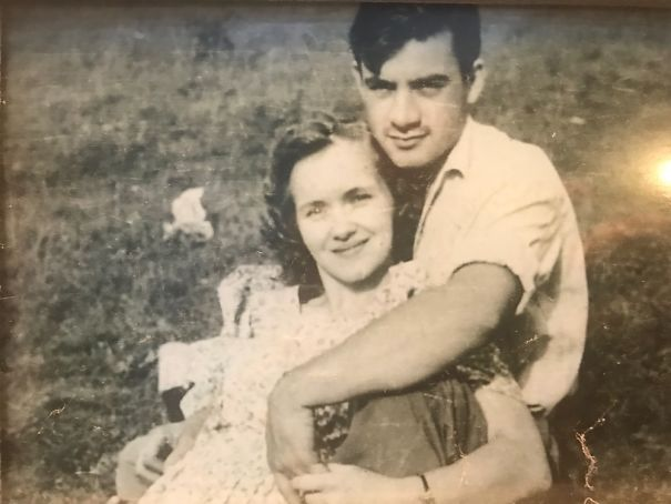 My Grandparents, Paul And Dorothy, Before He Left For War. He Made It Back To Her.