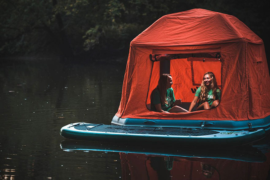 This Floating Tent Is Every Camper's Dream (Or Nightmare) Come True