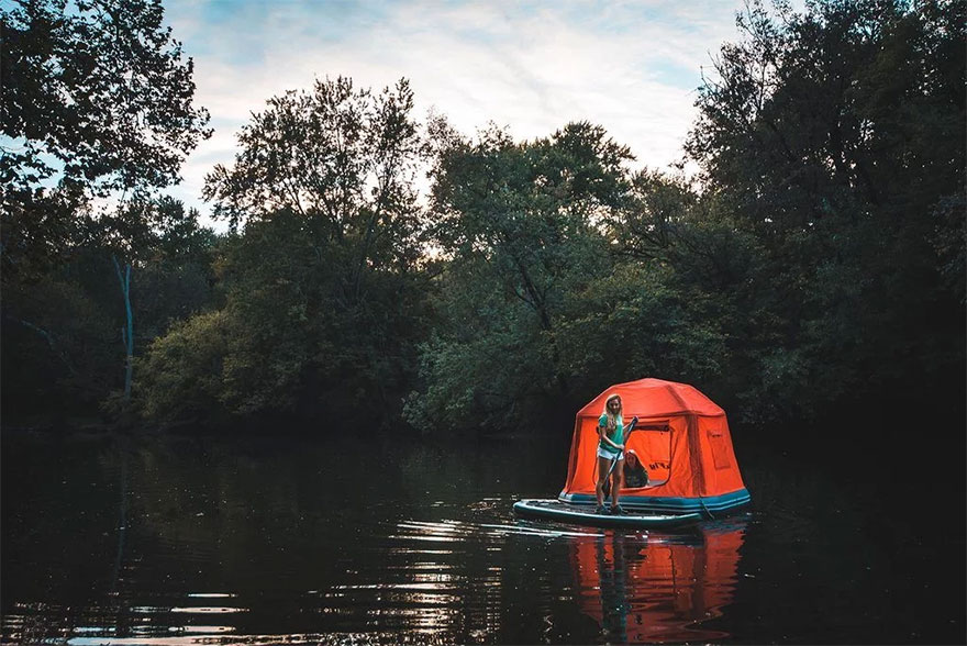 This Floating Tent Is Every Camper S Dream Or Nightmare