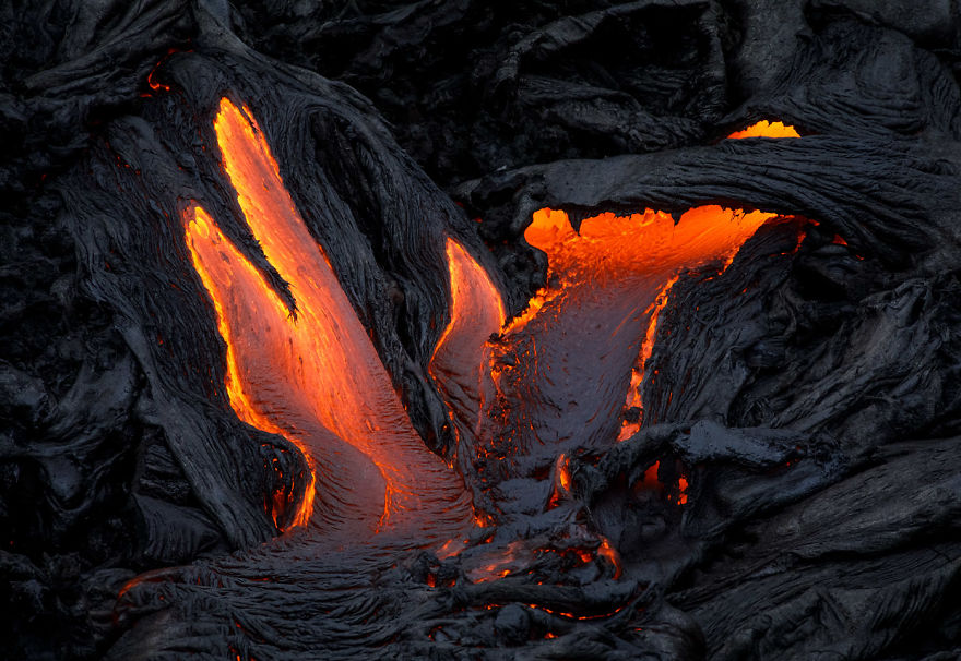 I Melted My Drone Camera Flying Too Close To The Lava Flows Of Mount Kilauea, Hawaii