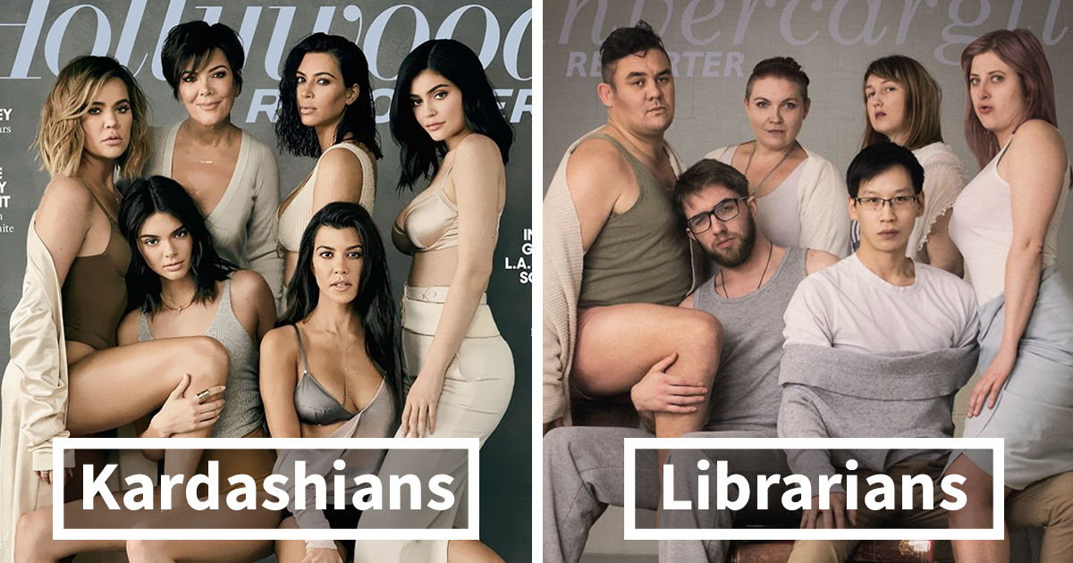 Librarians Attempt A KardashianInspired Photoshoot And The - These librarians attempted their own kardashian inspired photoshoot