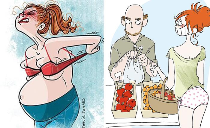 10+ Honestas ilustraciones que demuestran que ser madre es el trabajo más duro del mundo