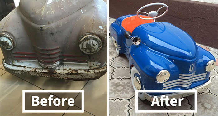 Russian Man Restores Child Pedal Vehicles From USSR-Times, And The Result Looks Amazing