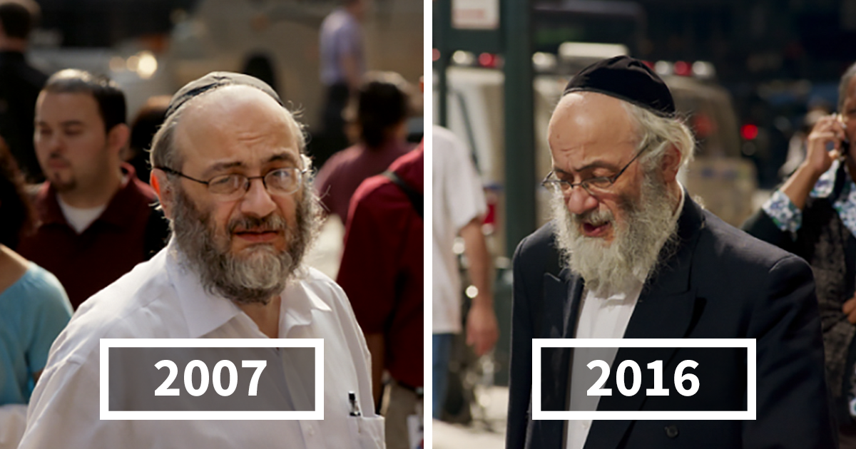 Photographer Spends 9 Years Shooting Same People On Their Way To Work, Shows How They Change Over Time