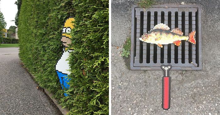 Someone Is Vandalising Streets With Pixel Art And The Result Is