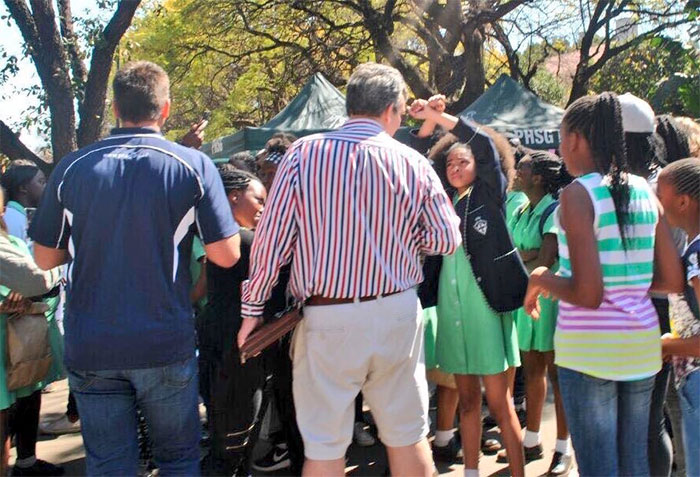 Zulaikha Patel, 13, Along With Other Schoolgirls, Protests Racist Hair Policies At Pretoria Girls High School, South Africa, 2016