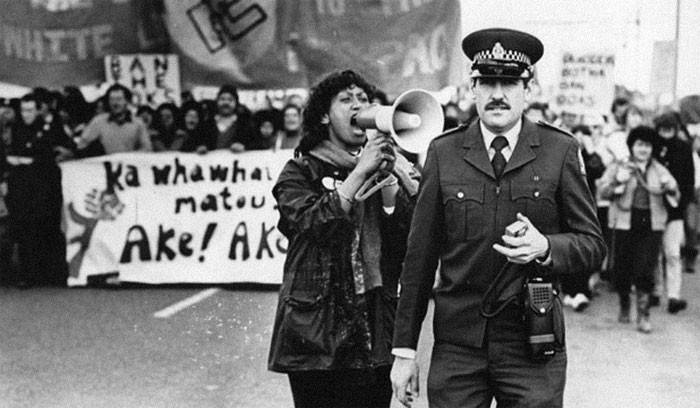 Woman Yelling At A Cop During An Anti-Apartheid Protest, 1981