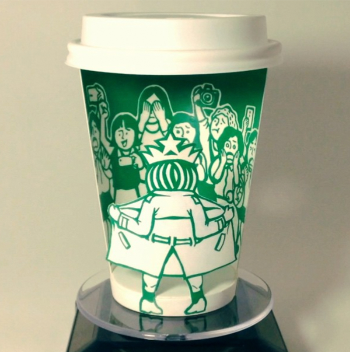 Artist Reveals The Hidden Life Of Starbucks' Mermaid By Transforming Their Cups
