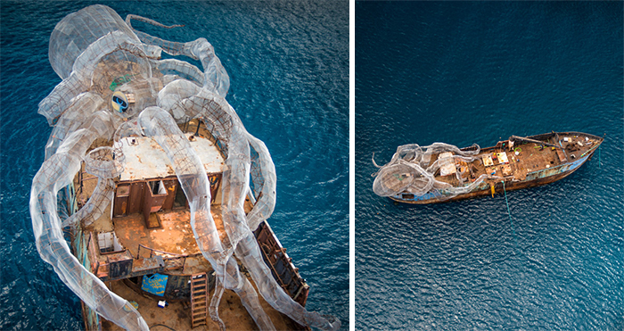 This Giant Steel Kraken Was Sunk With An Old WW2 Ship To Create The Coolest Artificial Coral Reef Ever
