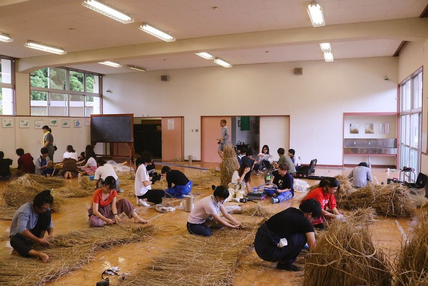 Giant Straw Animals Invade Japanese Fields After Rice Harvest And They Are Absolutely Badass