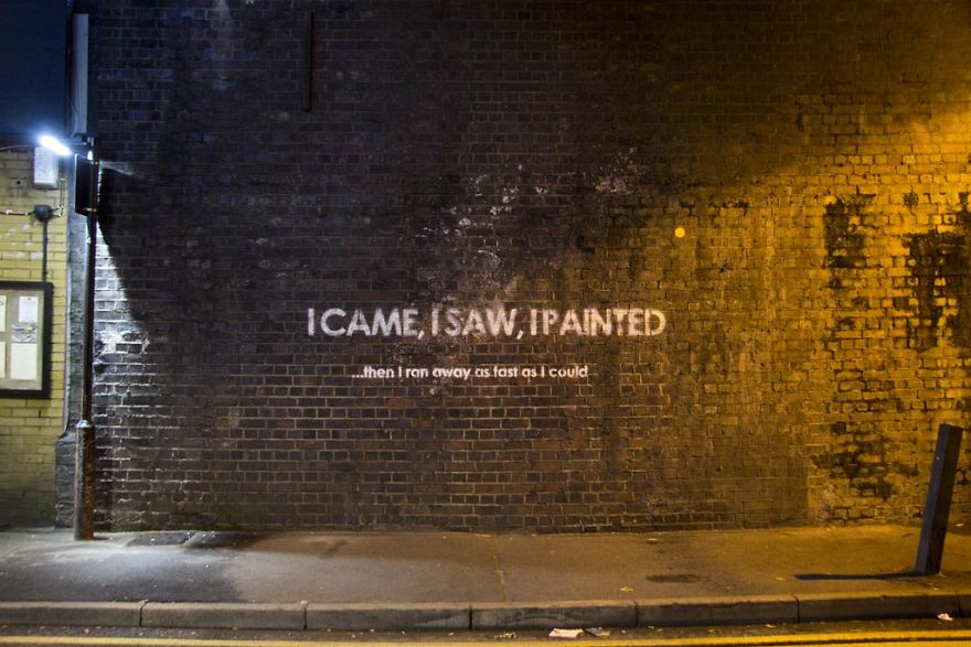 Someone Is Leaving Ironic Messages All Over The UK And Its - People cant decide if theyre ok with this street artists ironic messages