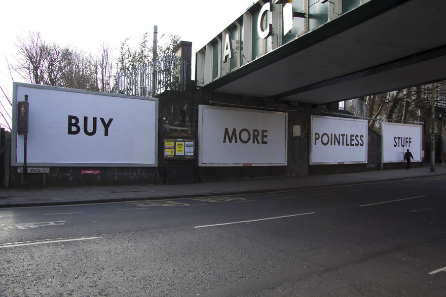 Someone Is Leaving Ironic Messages All Over The UK And Its - Sarcastic witty street art mobstr