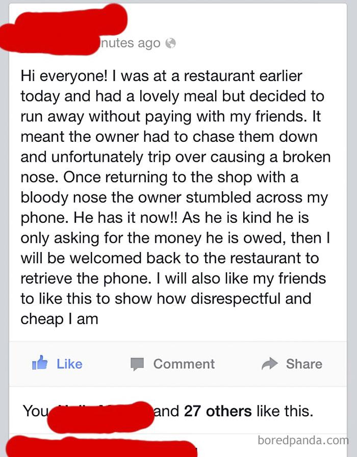 Restaurant Owner's Instant Karma