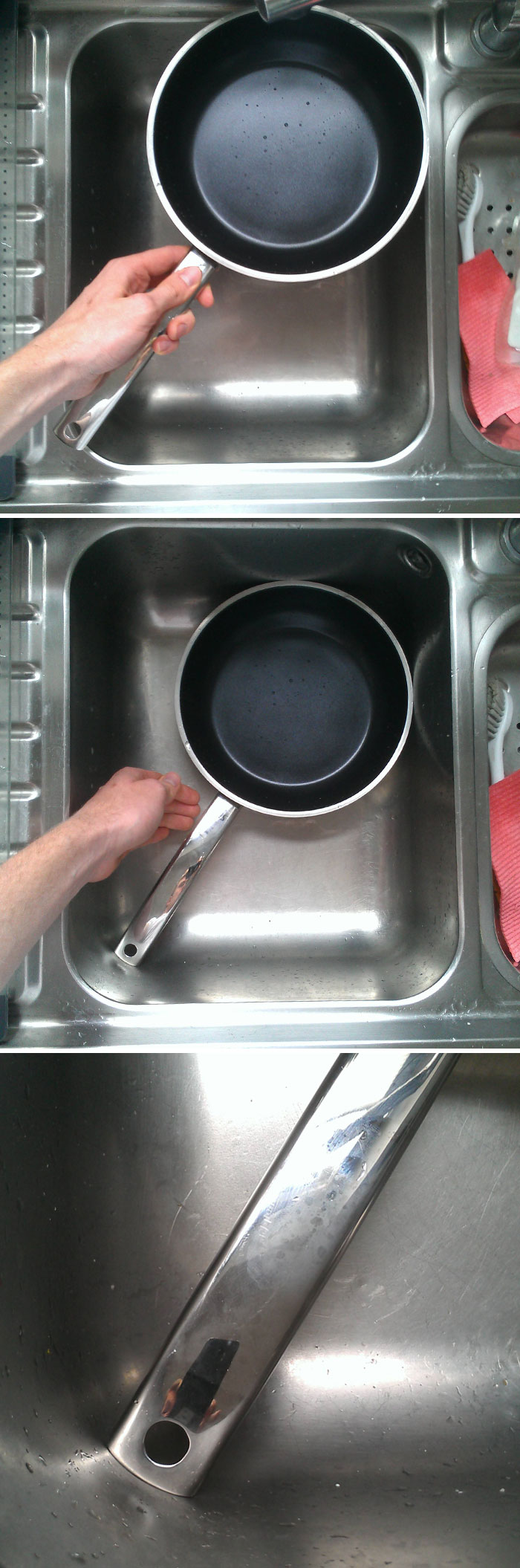 My Frying Pan Fits Perfectly Into My Sink