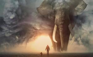 Imagino un mundo con animales gigantes en mis manipulaciones digitales