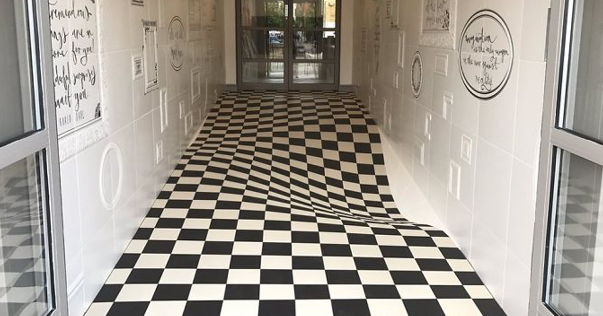 People Kept Running Through This Hallway, So They Installed This Floor To Stop Them