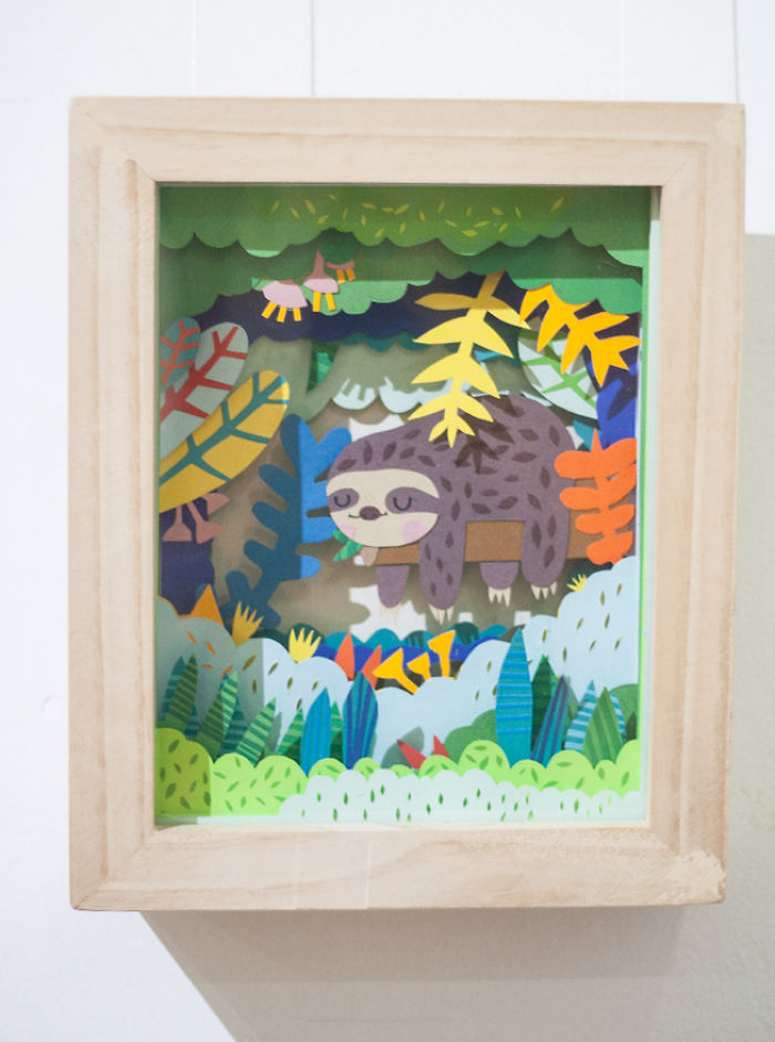 I Made Paper Dioramas Inspired By Nature And Animals
