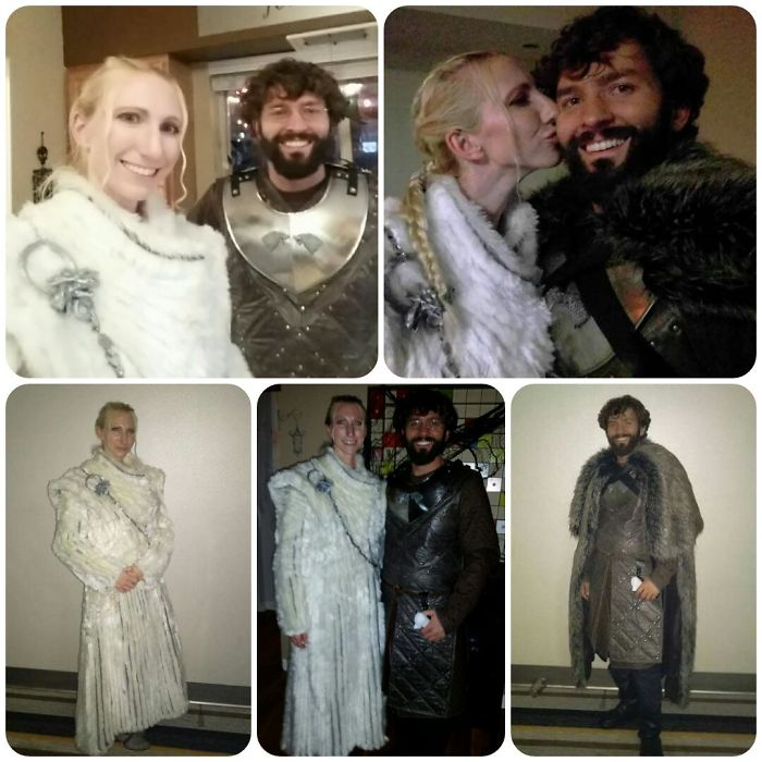 Daenerys And Jon Snow From Got Season 7. Hand Made The Costumes Ourselves. The Coat Took About 8 Weeks To Make.