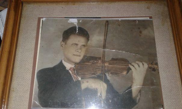 My Grandpa, José Freitas Playing The Violin