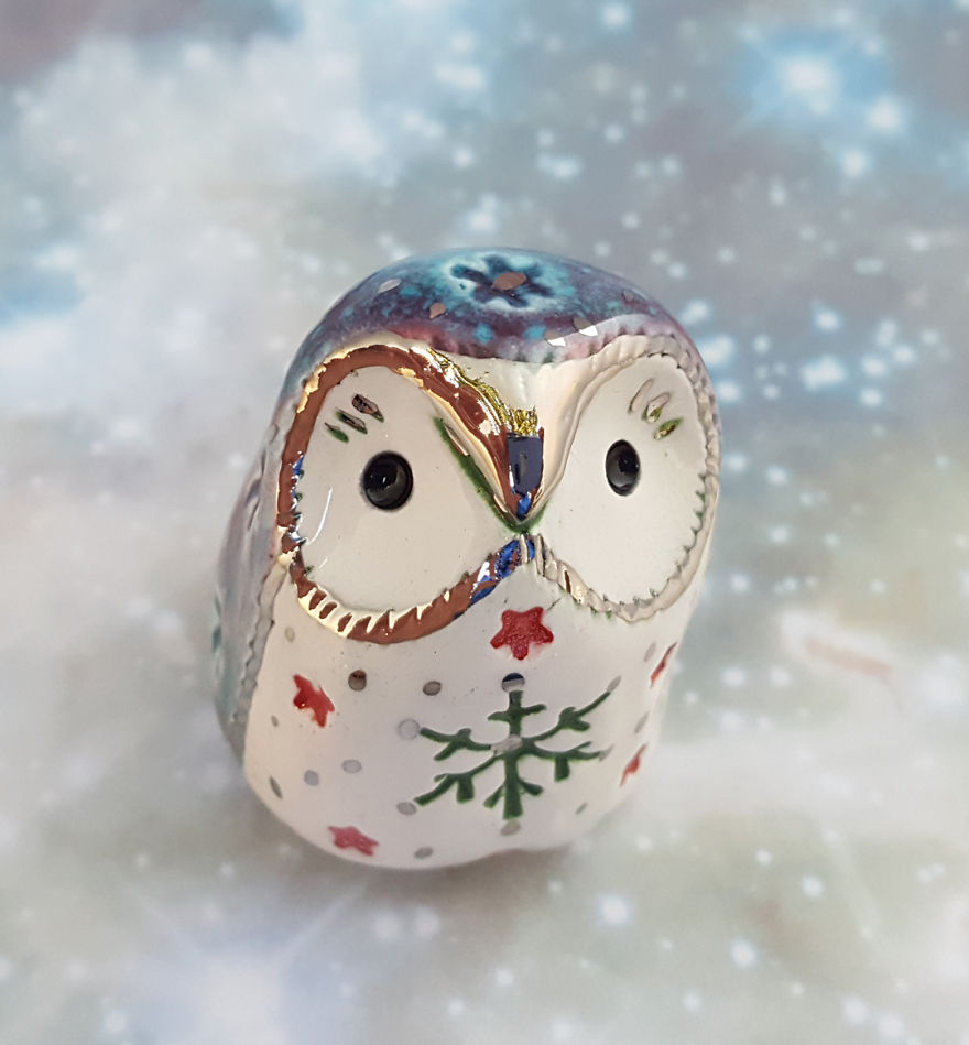 White Gold Owl