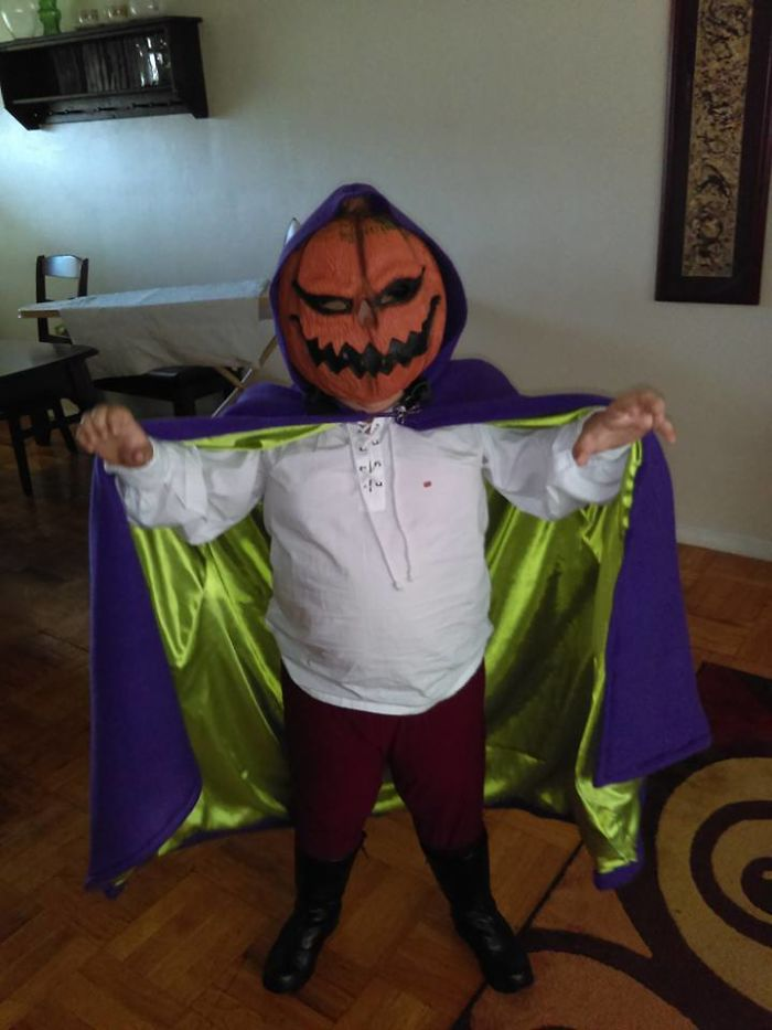 My 7yo Grandson Was The Headless Horseman From Scooby Doo
